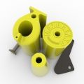 YELLOW SET OF THE TRAINING HANDLES # Armwrestling Shop # Armpower.net
