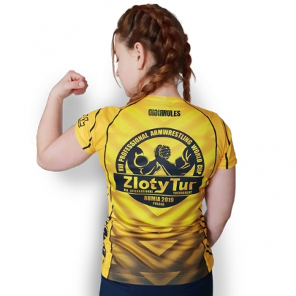 ZLOTY TUR WORLD CUP 2019 T-SHIRT- yellow # Armwrestling Shop # Armpower.net