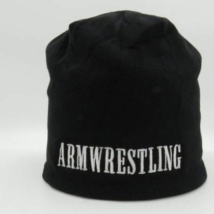 WINTER CAP -black/white # Armwrestling Shop # Armpower.net