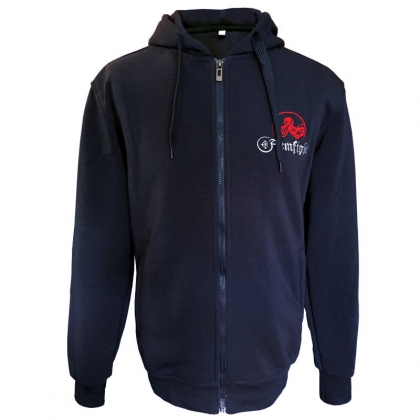 Fleece with embroidery - navy blue # Armwrestling Shop # Armpower.net