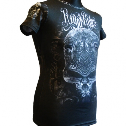 Rashguard for women Mechanical Skull # Armwrestling Shop # Armpower.net