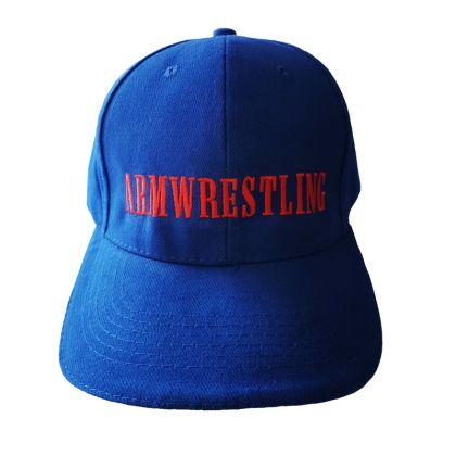 BASEBALL CAP - blue/red # Armwrestling Shop # Armpower.net