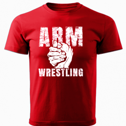 ARMWRESTLING T-shirt - red # Armwrestling Shop # Armpower.net