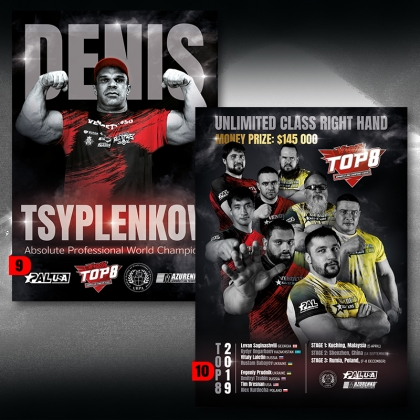 poster - TOP8 players # Armwrestling Shop # Armpower.net