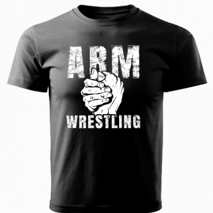 ARMWRESTLING  T-shirt - black # Armwrestling Shop # Armpower.net