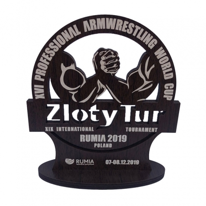 COLLECTIBLE ZLOTY TUR 2019 WOODEN STATUE # Armwrestling Shop # Armpower.net