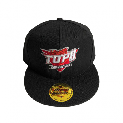 BASEBALL CAP TOP 8 - black # Armwrestling Shop # Armpower.net