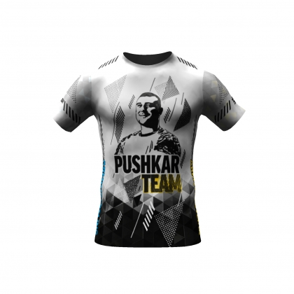 PUSHKAR Team  t-shirt white # Armwrestling Shop # Armpower.net