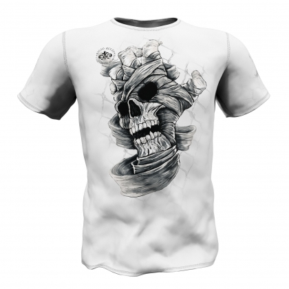 SKULL HAND Rigit Rules T-Shirt - white # Armwrestling Shop # Armpower.net