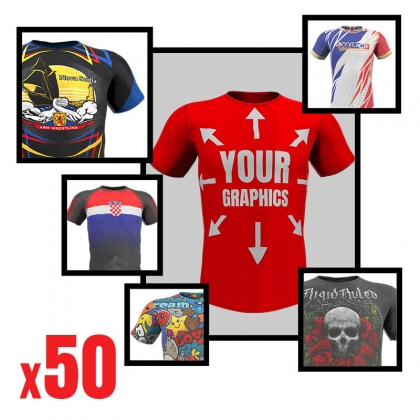 Sublimed T-shirt with your print 50 pcs # Armwrestling Shop # Armpower.net