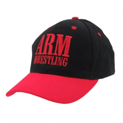 BASEBALL CAP - black/red # Armwrestling Shop # Armpower.net
