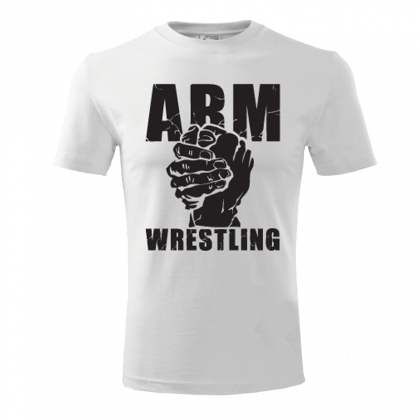 Unisex ARMWRESTLING  T-shirt - white # Armwrestling Shop # Armpower.net