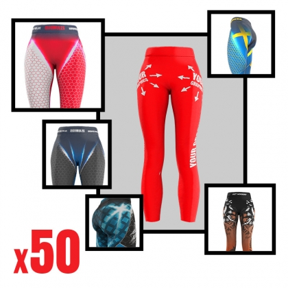SUBLIMED LEGGINS WITH YOUR PRINT 50 PCS # Armwrestling Shop # Armpower.net