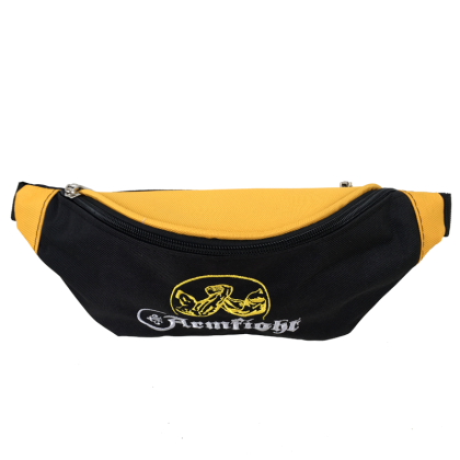 BLACK – YELLOW WAISTPACK WITH EMBROIDERY # Armwrestling Shop # Armpower.net