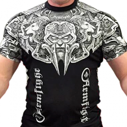 ARMFIGHT RASHGUARD black / white # Armwrestling Shop # Armpower.net