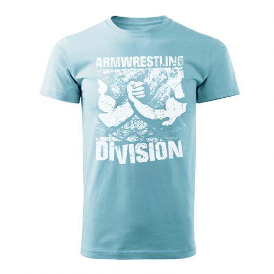 Футболка ARMWRESTLING DIVISION голубая # Armfight.eu