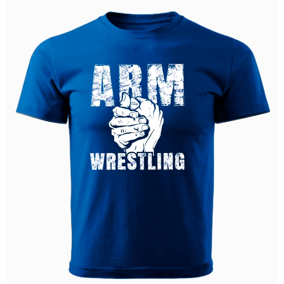 ARMWRESTLING T-shirt - blue # Armfight.eu