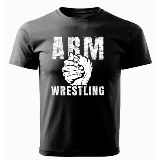 ARMWRESTLING  T-shirt - black # Armfight.eu