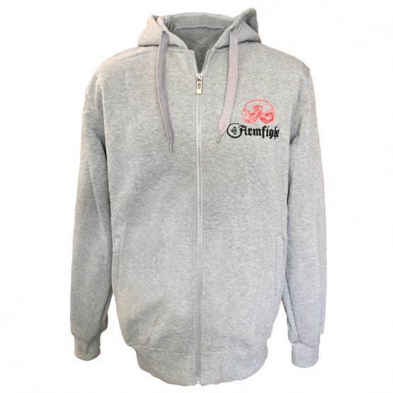 Fleece with embroidery - light gray # Armfight.eu
