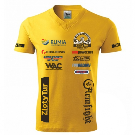 ZLOTY TUR WORLD CUP T-SHIRT- yellow # Armfight.eu