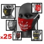 Protective face masks with your logo x25 # Armwrestling Shop # Armpower.net