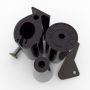 BLACK SET OF THE TRAINING HANDLES # Armwrestling Shop # Armpower.net