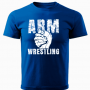 ARMWRESTLING T-shirt - blue # Armwrestling Shop # Armpower.net