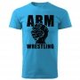 Unisex ARMWRESTLING  T-shirt - blue # Armwrestling Shop # Armpower.net