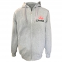 Fleece with embroidery - light gray # Armwrestling Shop # Armpower.net