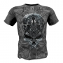 "T-shirt""MECHANICAL SKULL- gray # Armwrestling Shop # Armpower.net"