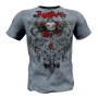 "T-shirt  ""Wired Roses"" Rigid Rules-blue # Armwrestling Shop # Armpower.net"