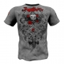 "T-shirt  ""Wired Roses"" Rigid Rules-gray # Armwrestling Shop # Armpower.net"