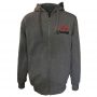 Fleece with embroidery - gray # Armwrestling Shop # Armpower.net