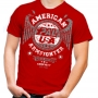Unisex AMERICAN ARMFIGHTER shirt – red # Armwrestling Shop # Armpower.net
